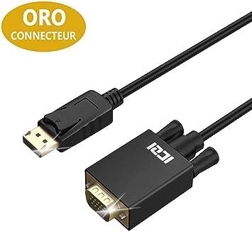ICZI Cable DP a VGA, Cable Adaptador DisplayPort a VGA 1080p ...