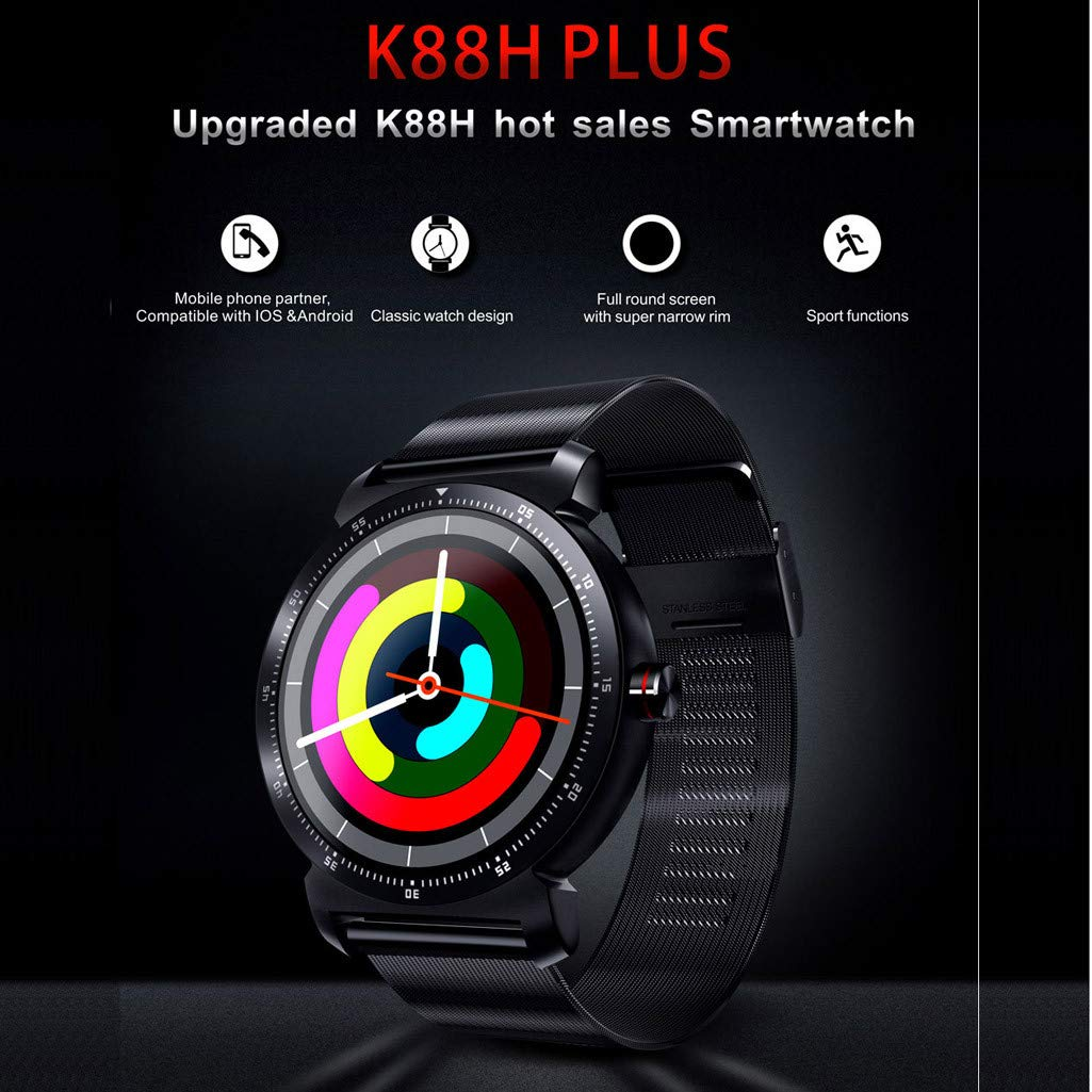 Cywulin Smart Watch Fitness Tracker, Touchscreen Activity Tracking Multi-Function Bracelet Waterproof with Heart Rate Sleep Monitor, Calorie, Pedometer for iPhone iOS Android Kids Men Women (Black) by Cywulin (Image #3)