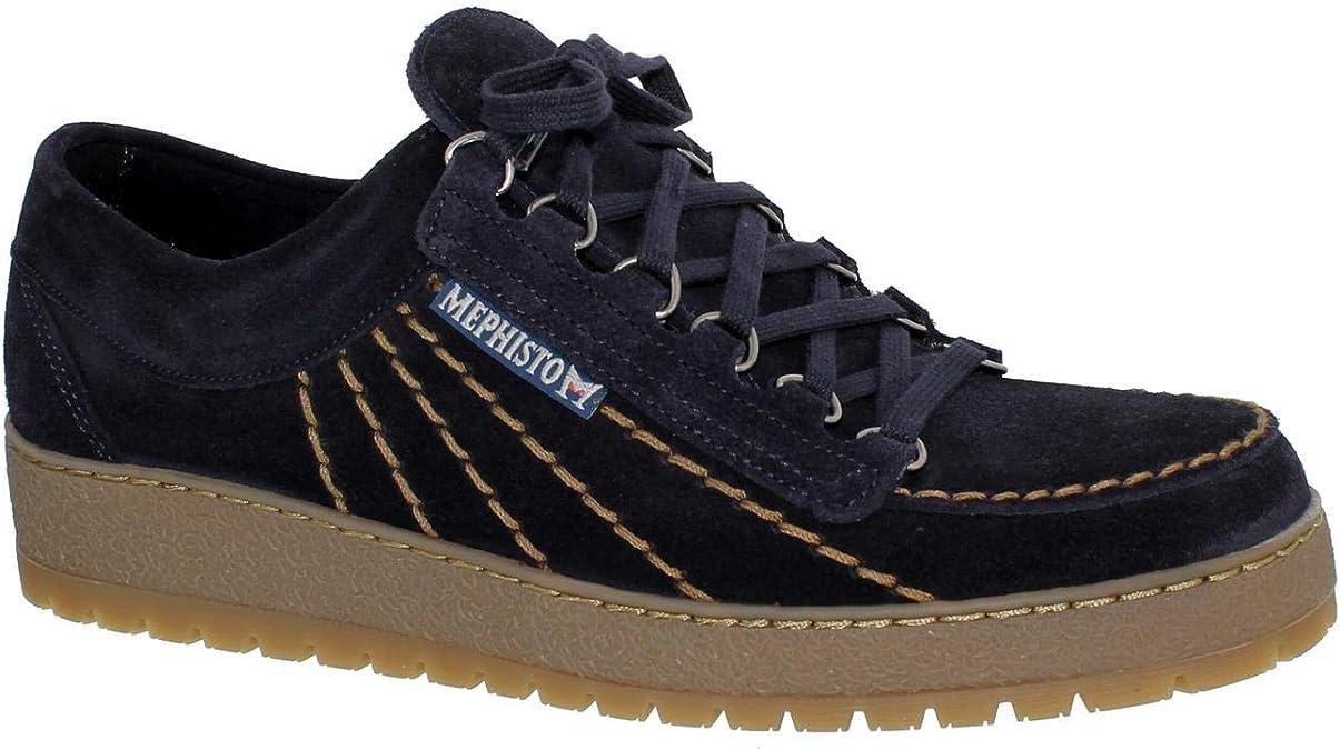 Mephisto P5120737 - Zapatos de Cordones de Otra Piel Hombre, Azul (Azul), 45-10.5