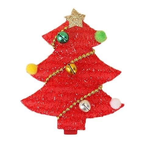 Kanggest Pinzas de Pelo Bebe Niña árbol de Navidad Horquillas de Pelo Clip para Día de