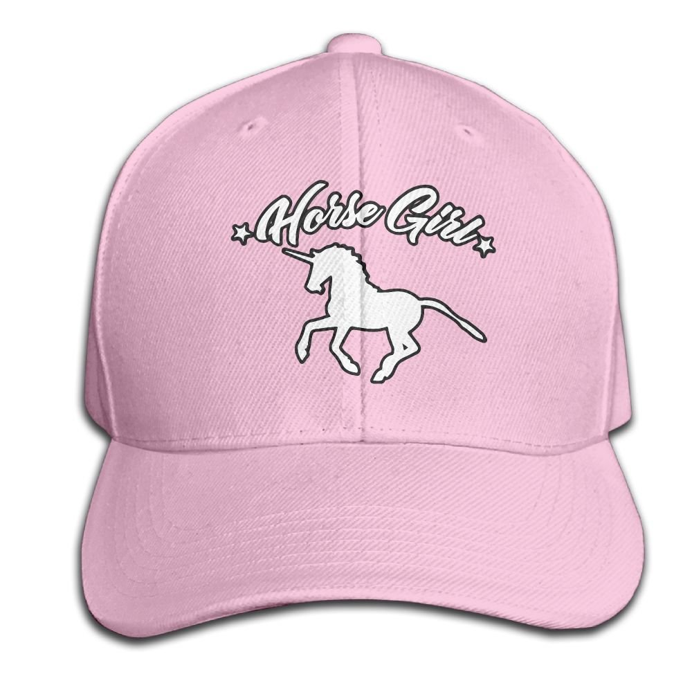 Unisex Adjustable Horse Girl Pure Color Baseball Cap Outdoor Sports Hat