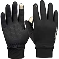 HiCool Winter Gloves, Men Women Touchscreen Gloves Running Gloves Driving Cycling Gloves Outdoor Windproof Thermal Gloves (Black)