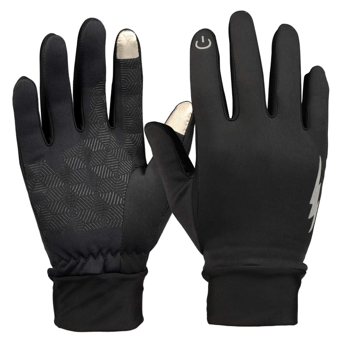 328a45ca2e8c8 Amazon.com : HiCool Winter Gloves, Men Women Touchscreen Gloves Running  Gloves Driving Cycling Gloves Outdoor Windproof Thermal Gloves (Black) :  Sports & ...