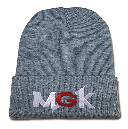 ZZZB MGK Machine Gun Kelly Logo Beanie Fashion Unisex Embroidery Beanies Skullies Knitted Hats Skull Caps - Grey