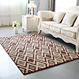 WAN SAN QIAN- Economy Nordic Living Room Carpet Country Style Home Carpet Bedside Bedside Blanket Blended Carpet Rug ( Color : D , Size : 140x200cm )