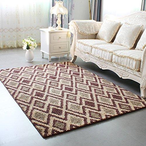 WAN SAN QIAN- Economy Nordic Living Room Carpet Country Style Home Carpet Bedside Bedside Blanket Blended Carpet Rug ( Color : D , Size : 140x200cm ) by Rug