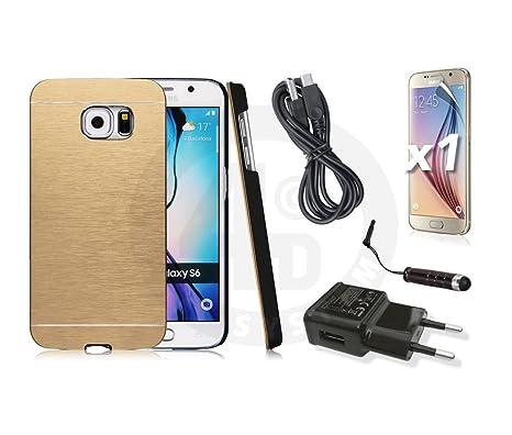 4D-System - Carcasa Aluminio Motomo oro Samsung Galaxy S6 + ...