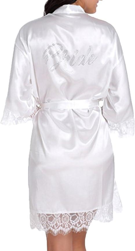 WPFING Encaje Blanco Camisón de la boda para el camisón nupcial de la novia del partido nupcial
