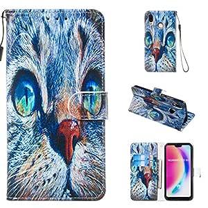 CoqueCase Funda para Huawei P20 Lite Libro Cuero PU Tapa Flip Case ...