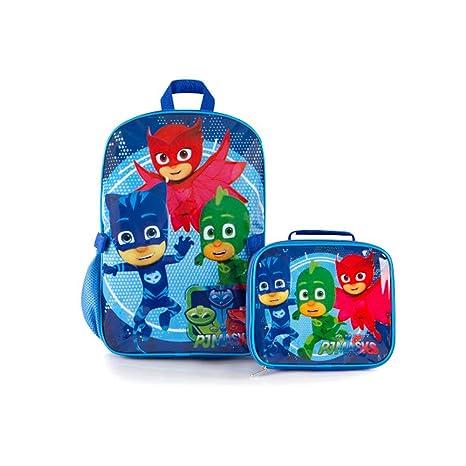 eOne Econo PJ Mask Kids Mochila de 15 pulgadas con bolsa de almuerzo, kit de