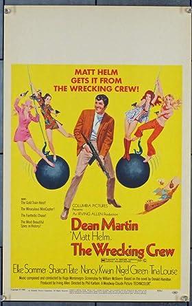 "1969 DEAN MARTIN /& SHARON TATE /""THE WRECKING CREW/"" MATT HELM Photo NEW"