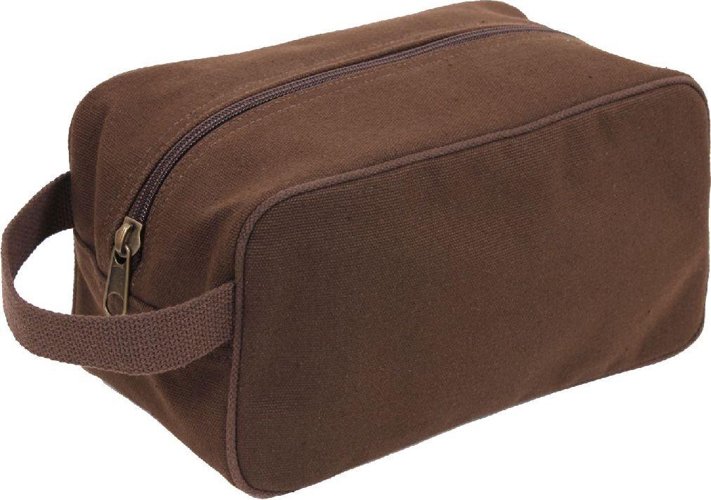 Heavy Canvas Travel Kit Bag Toiletry Case
