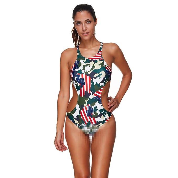 grande sconto così economico ultima moda Mambain Costume Intero Donna Mimetica,Bikini Interi Donna ...