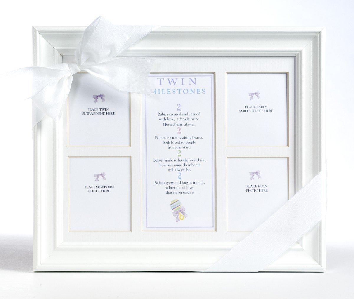 Amazon.com : The Grandparent Gift Co. 8x10 Twins Milestones Frame ...