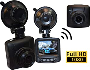 """WPTECH C11 Mini Car Dash Cam with 2.0"""" LCD Screen, WiFi Mobile APP, FHD 1920x1080P, 170 Degree Wide Angle, G-Sensor, Loop Recording, Motion Detection, and 16GB Micro SD Card Included"""