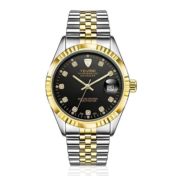 TEVISE 629-001 Estilo de los Hombres de Negocios Reloj mecánico automático Reloj de Pulsera de Acero Inoxidable a Prueba de Agua de Lujo a Prueba de Agua: ...