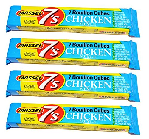 Chicken Bouillon No Msg - Massel Single Serve Bouillon Cubes-Chicken-1.23 Oz-4 Pack