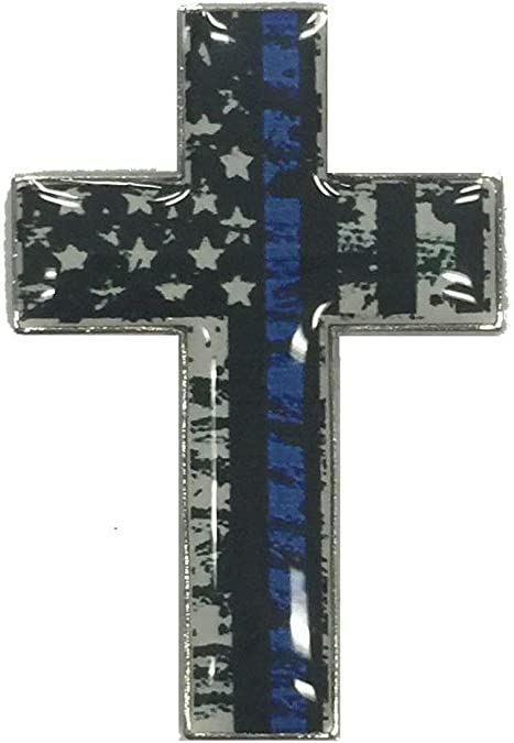 Amazon.com: USA Blue Line Cross Lapel Hat Cap Pin Law Enforcement Honor  Police FAST USA SHIP: Jewelry