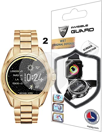 For Michael Kors Bradshaw SmartWatch Screen Protector (2 Units) Invisible Ultra HD Clear Film Anti Scratch Skin Guard - Smooth / Self-Healing / Bubble ...