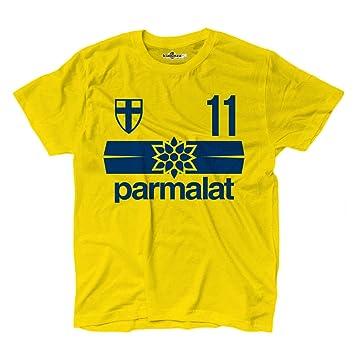 Camiseta KiarenzaFD Fútbol Parma Vintage 11 Juan Sebastián Verón Temporada 98 - 99: Amazon.es: Deportes y aire libre
