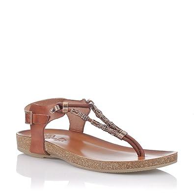 new styles 03d44 b73b7 Porronet , Damen Flache Sandalen , braun - braun - Größe: EU ...