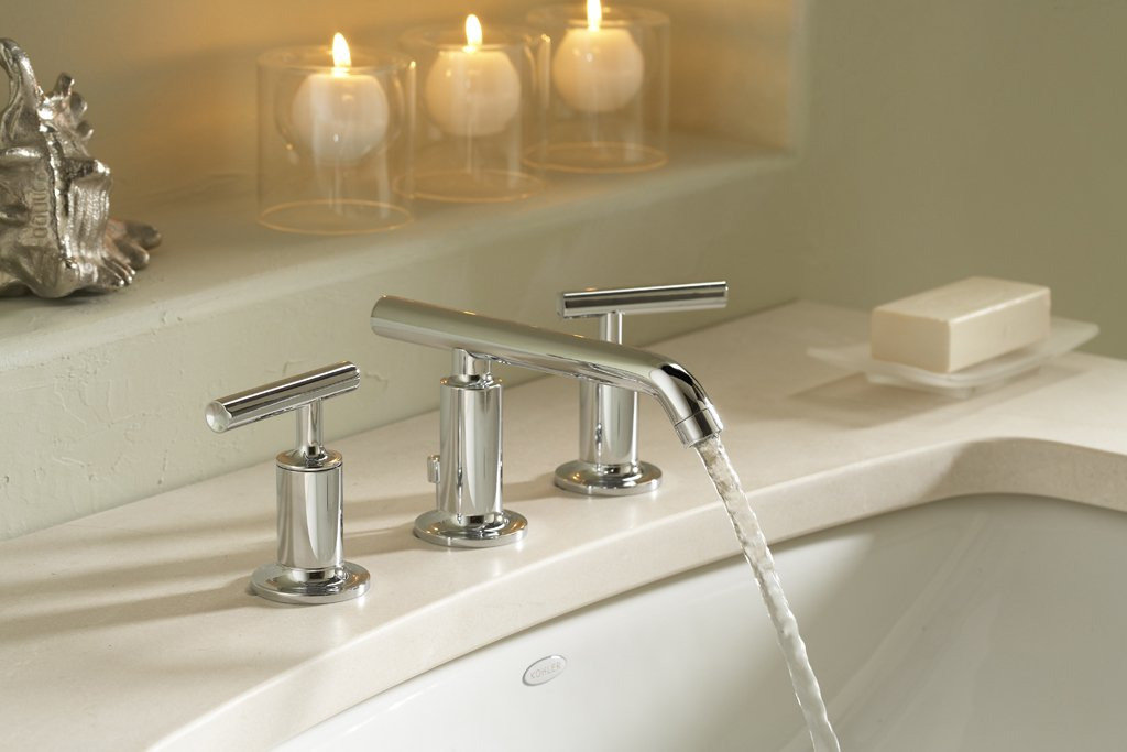 Kohler K 14410 4 Cp Purist Widespread Lavatory Faucet With