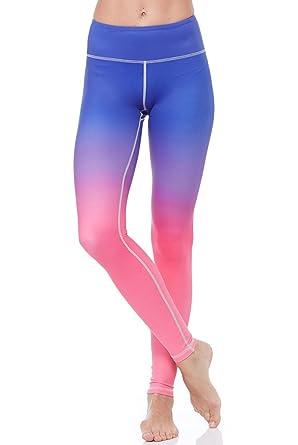 513c7642188b23 Flexi Lexi Women's Active Workout Ombre Flexi Yoga Legging - S/M, M/L at  Amazon Women's Clothing store: