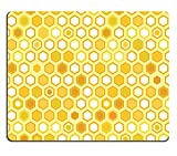Luxlady Gaming Mousepad IMAGE ID: 20009484 Abstract colorful yellow honeycomb seamless pattern vector