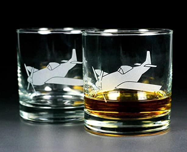 Amazon com: AIRPLANE Lowball Glasses set of 2 - Dishwasher