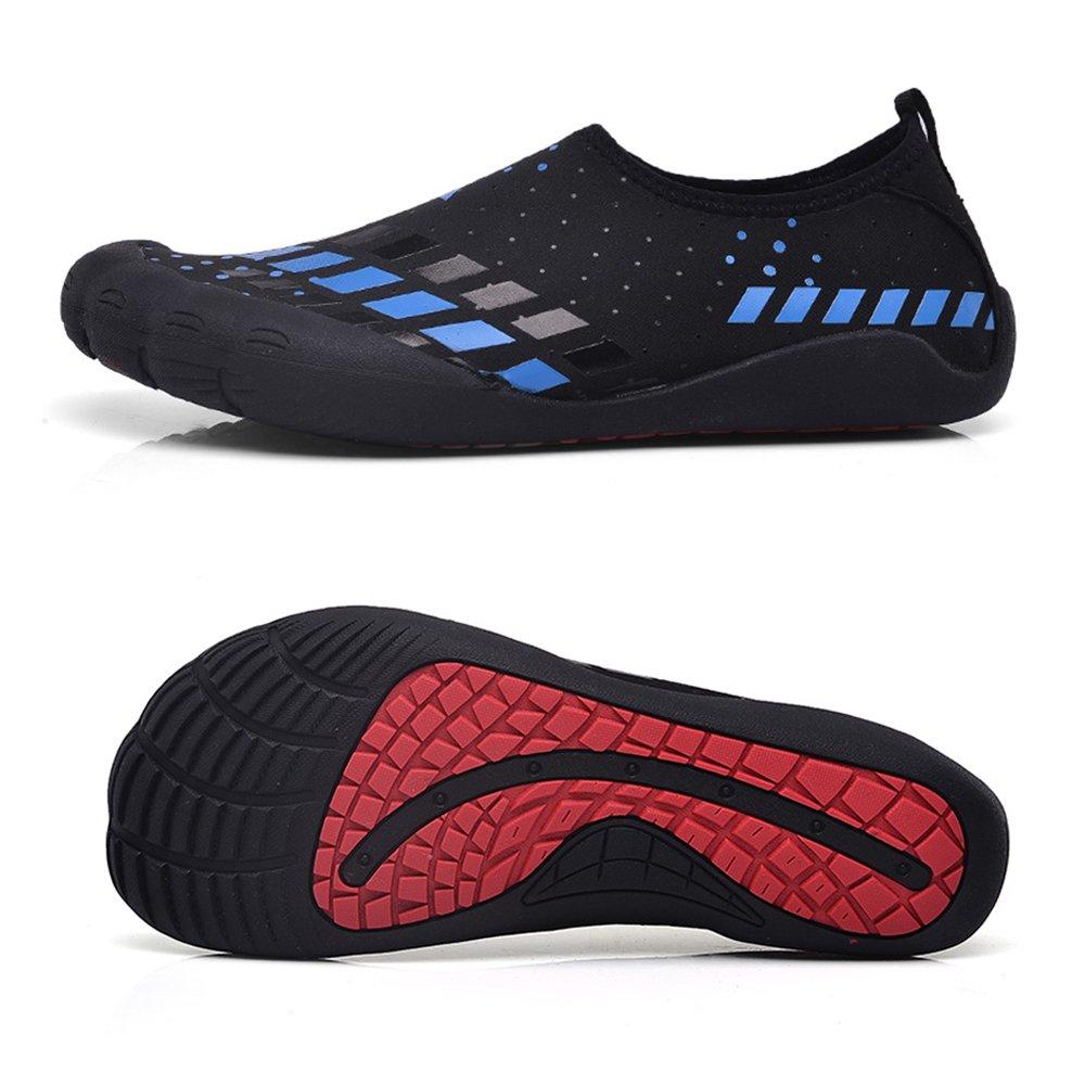 Water Shoes Mens Womens Beach Swim Shoes Quick-Dry Aqua Socks Pool Shoes for Surf Yoga Water Aerobics B07BSY8BQF 13.5 D(M) US|Fivefingers-blue Square
