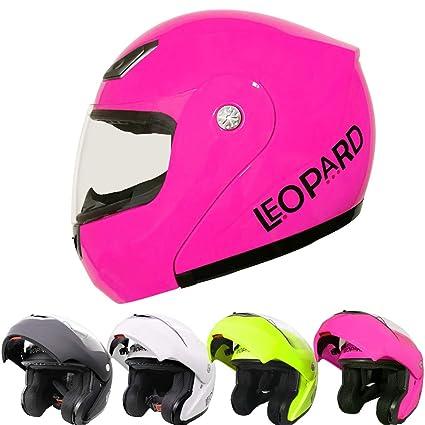 59-60cm Leopard LEO-717 ECE Approved Flip up Motorcycle Motorbike Helmet Matt Black L