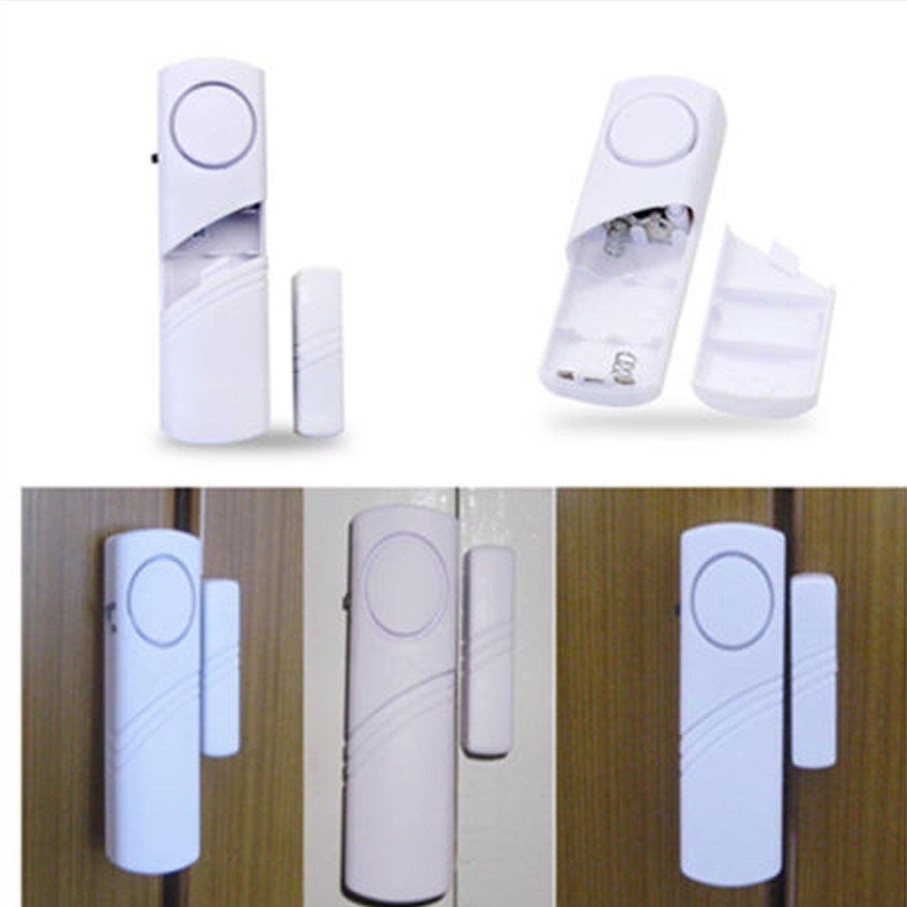 Fensteralarm Türalarm Sirene Alarmanlage Einbruchschutz Sicherungsstange Fenster Tür Alarm Mini Weiß 5 Stück