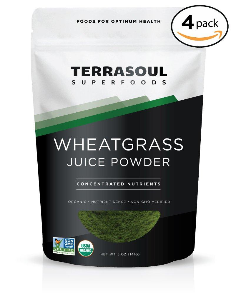Terrasoul Superfoods Organic Wheat Grass Juice Powder, 20 Ounces - USA Grown
