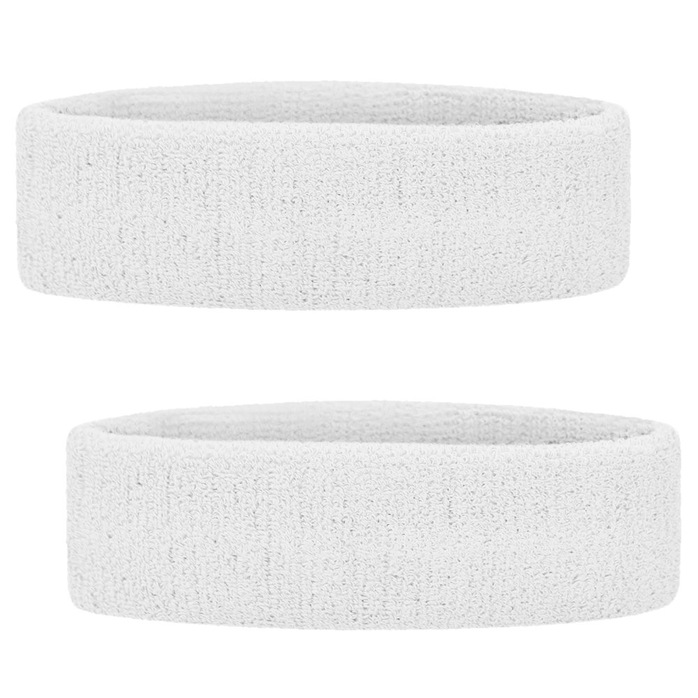 GOGO Sports Headband/Sweatband, Terry Cloth Head Band-Black & Blue