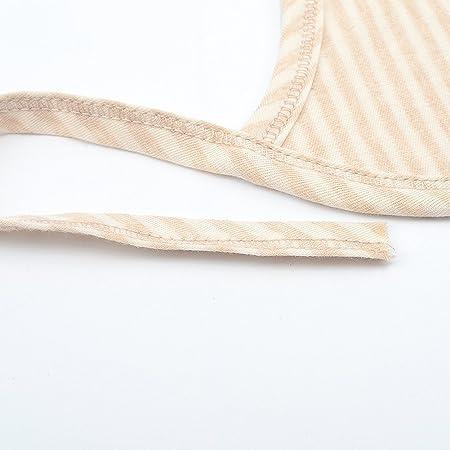 Kanggest Baberos de Algodón para Bebés Toalla Marrón de Saliva de Bebé con Rayas para el Bebé que Come Higiene Protección de la Salud