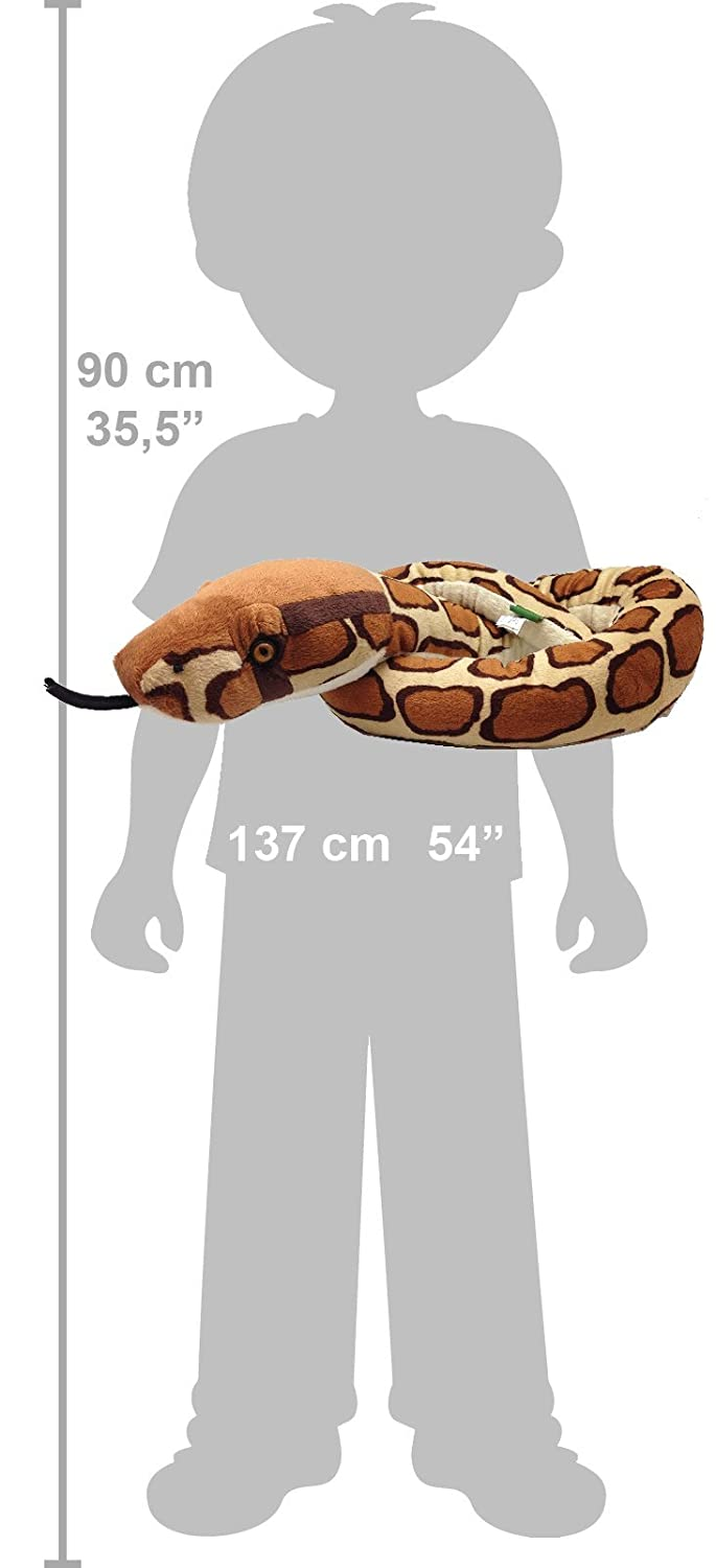 amazon com wild republic stuffed animal snake burmese python 54