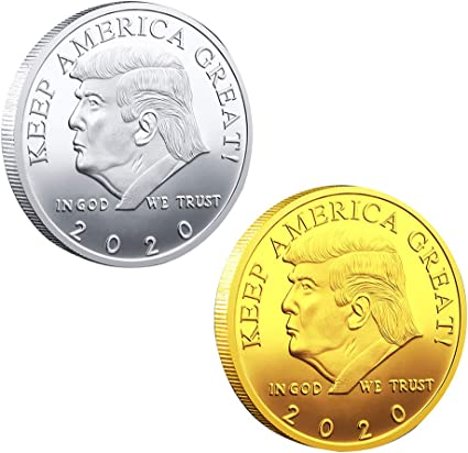 Donald Trump 45th President Gold /& Silver Plated Commemorative//Novelty//2 Coins
