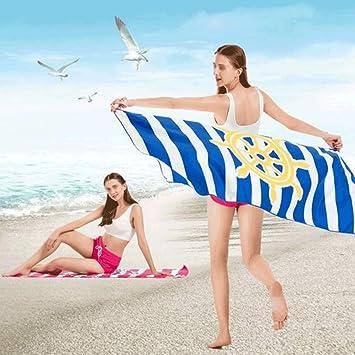 Toallas de Baño Viaje de toalla de playa de microfibra - Toalla de playa con estampado de secado rápido Natación, ejercicio, al aire libre, regalos de San Valentín disponibles en una variedad