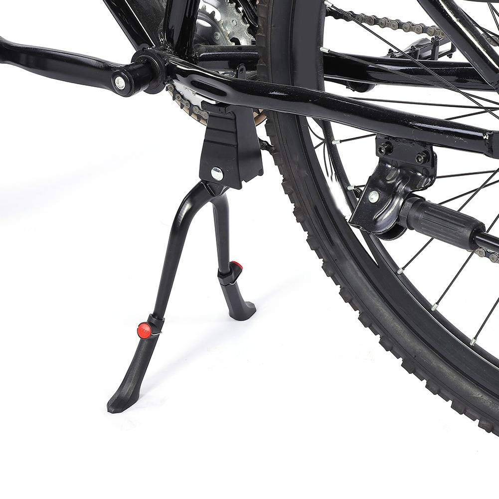 Base grabable de aleaci/ón de Aluminio para Bicicleta de 24 a 28 Pulgadas Plegable y Antideslizante Caballete Central de Doble pie para Bicicleta Compatible con Bicicleta de monta/ña y de Carretera