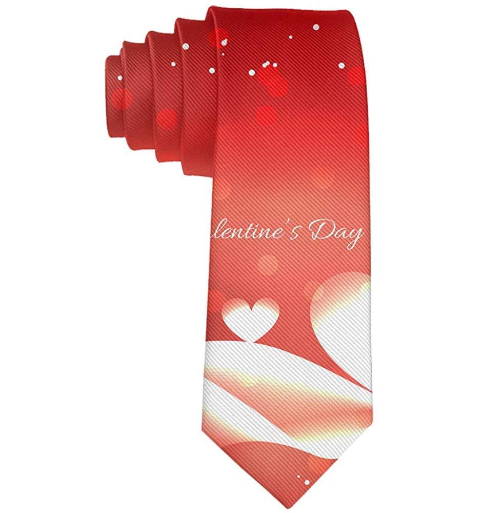 Corbata roja del día de San Valentín del corazón rojo del amor de ...
