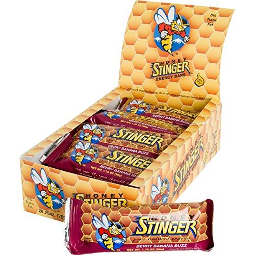 Honey Stinger Energy Bar, Berry Banana Buzz, 1.75 Ounce (Pack of 15) Nutritional Food Bar Yogurt Honey