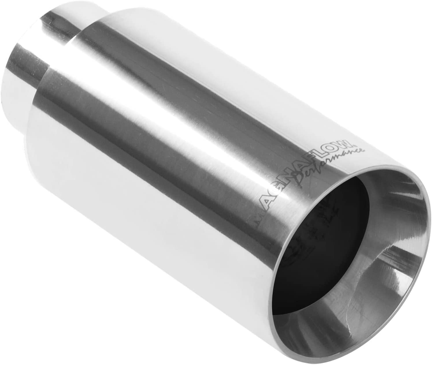 """Magnaflow 35131  Stainless Exhaust Tip 2.25/"""" Inlet 3/"""" Round 7/"""" Long Polished"""