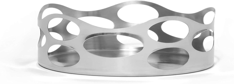"Lipper International Seascape Stainless Steel Wavy Basket 9"", Mirror finish"