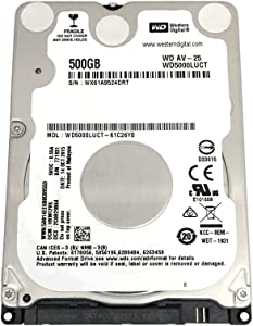 Western Digital WD5000LUCT AV 500GB 5400RPM 16MB Cache (7mm) SATA 3.0Gb/s Internal 2.5inch Notebook Hard Drive