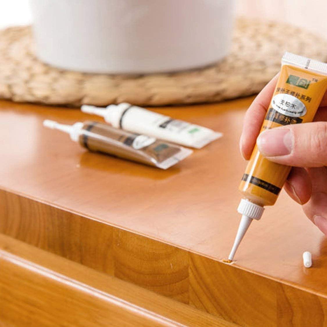 Elfenbeinwei/ß Bodenbelag M/öbelreparatur Fu/ßboden Holzt/ür Nagel Reparaturfl/üssigkeit M/öbelreparatur Werkzeuge Holzkratzer Concealer