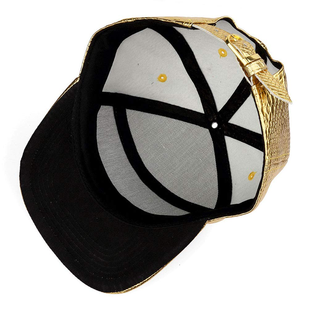 QWERDF Hip Hop Crocodile Hat Street,Black Flat Brim Baseball Cap,Adjustable Men Women Dome Cap
