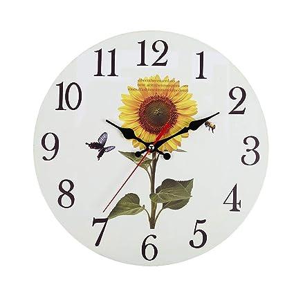 Amazon.com: JunLai Kitchen Wall Clock Battery Operated Large ...