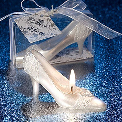RedC Cinderella Fairy Tale Crystal Shoes Novelty Candles For Weeding Propose (Cinderella Shoes Kids)