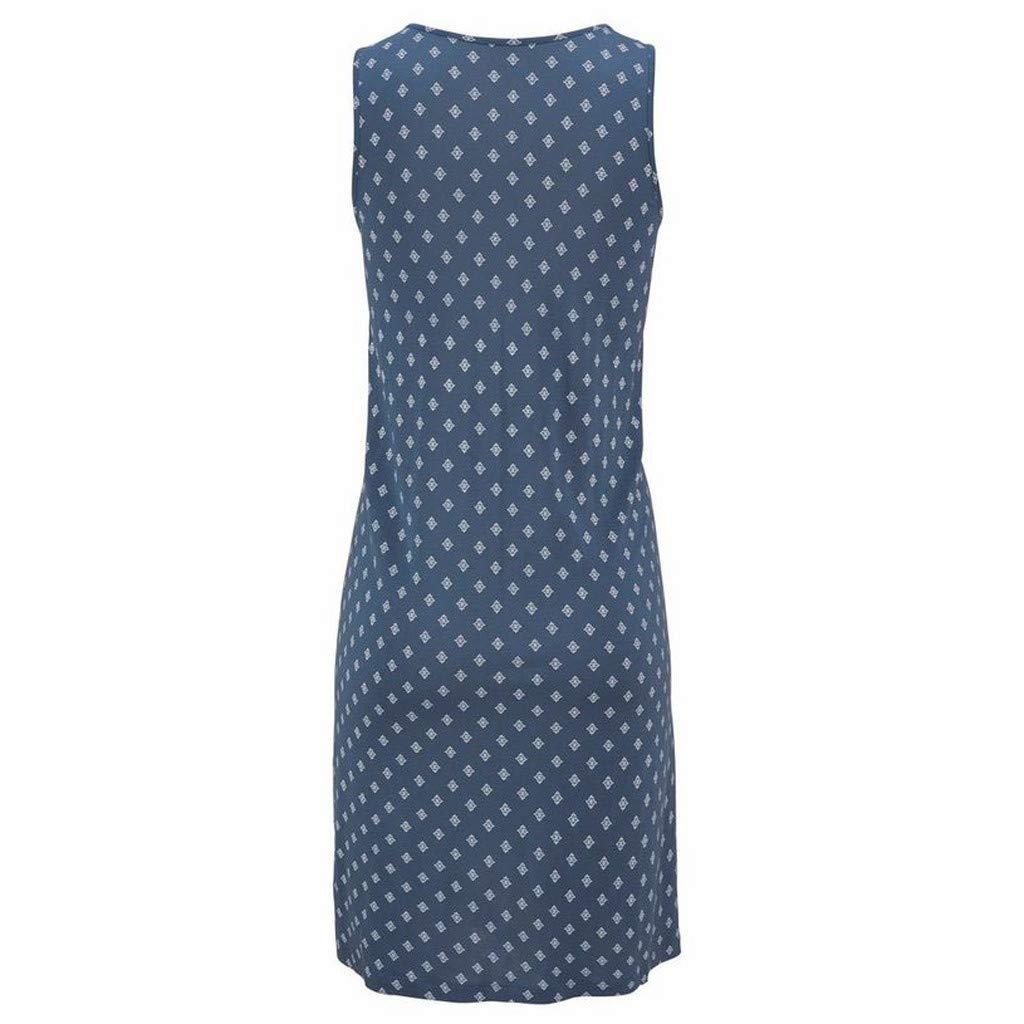 TWGONE Tank Dresses for Women Summer Scoop Neck Boho Print Sleeveless Beachwear Mini Sundress