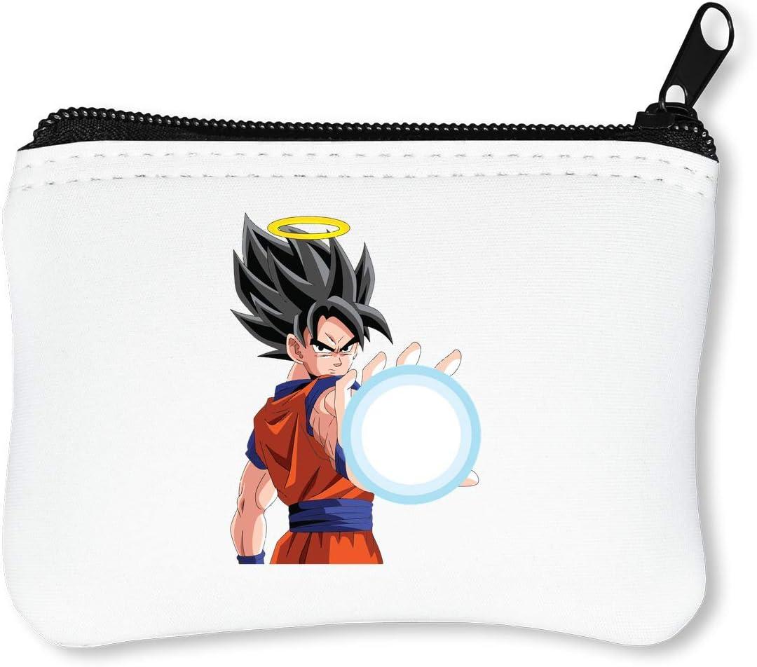 Dragon Ball Z Goku porte-monnaie porte-monnaie porte-monnaie cartes de cr/édit pochette baiser serrure boucle exquise maquillage changement de t/él/éphone portable femmes en cuir argent porte-monnaie por